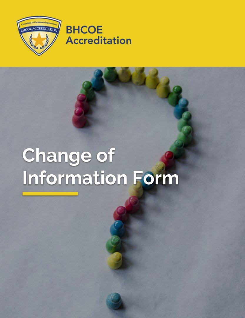 BHCOE Change of Information Form