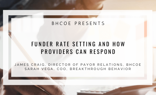 Funder Rate Setting and How Providers Can Respond