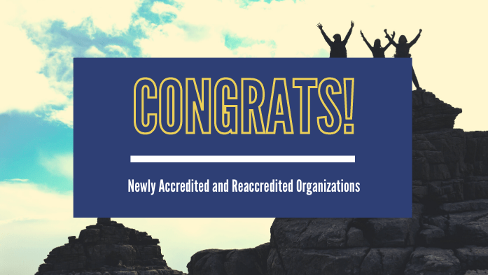 BHCOE Announces August & September 2020 Accreditations