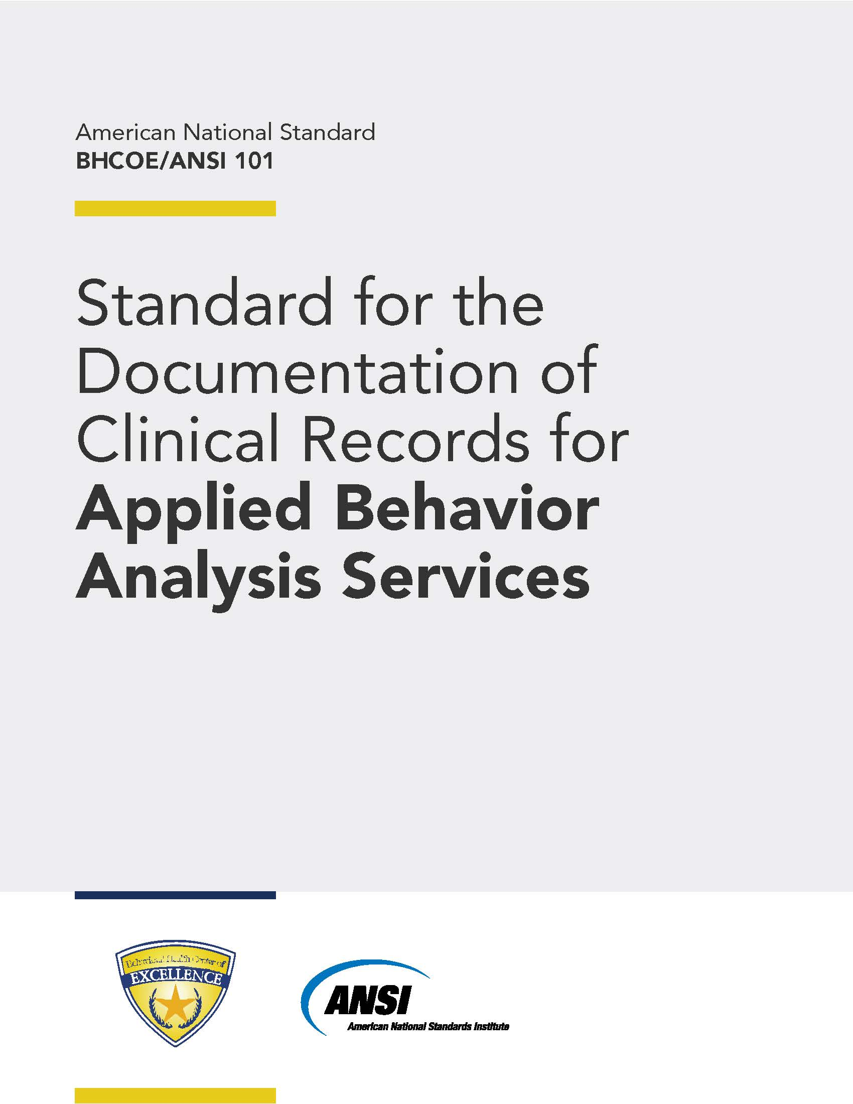 BHCOE-101 -Standard-For-The-Documentation-Of-Clinical-Records