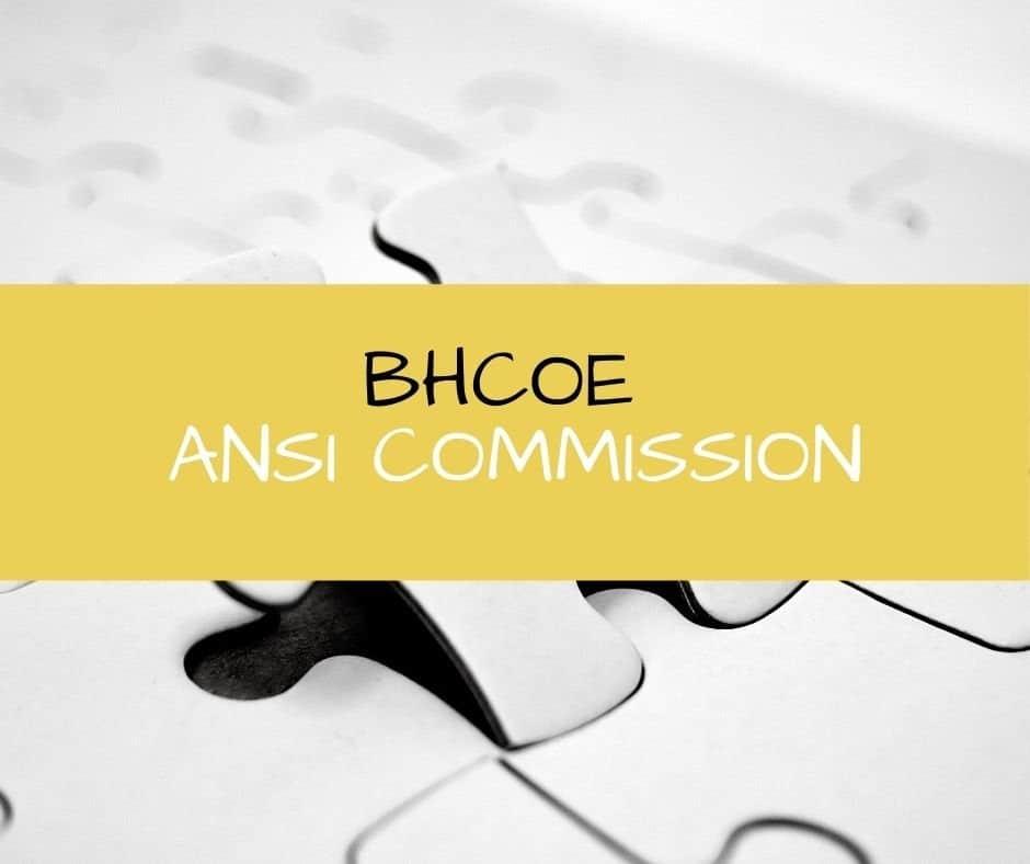 BHCOE ANSI Commission