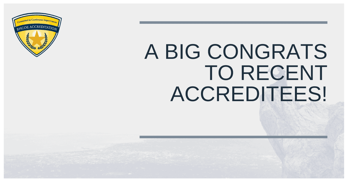BHCOE May 2021 Accreditation Announcements