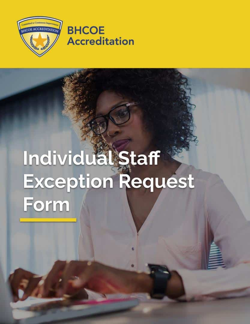 Individual Staff Exception Request Form