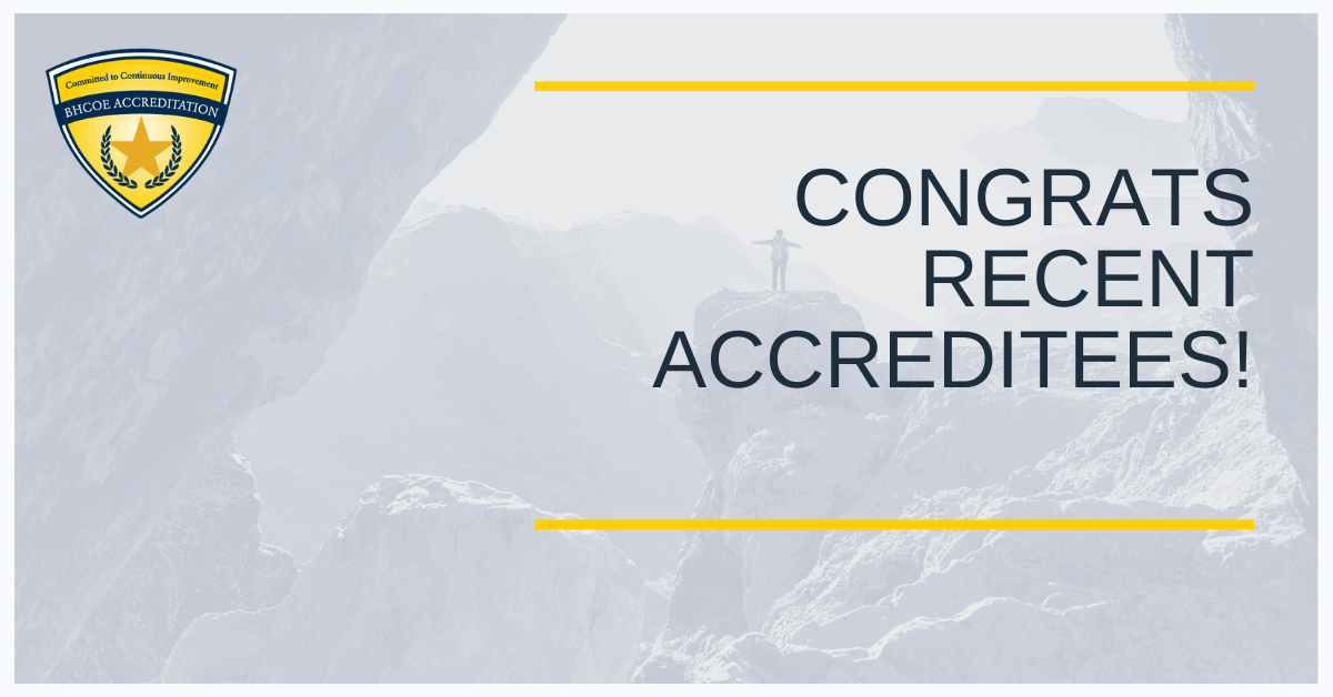 BHCOE August 2021 Accreditation Announcements
